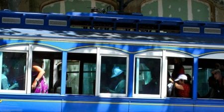 Barcelona Tram Blau