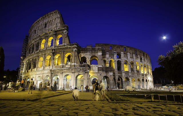 Rome Colosseum Night