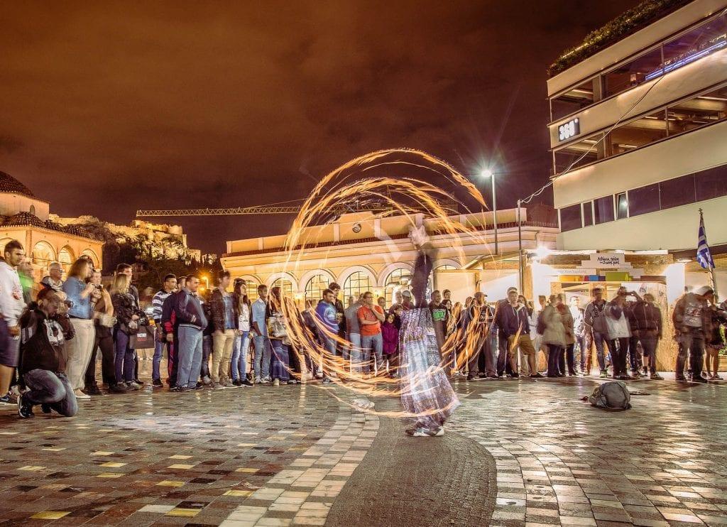 Monastiraki street performance