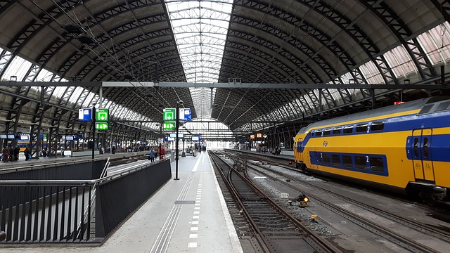 train station in Amsterdam