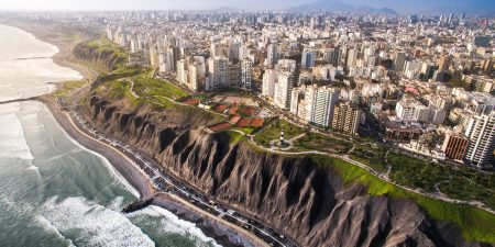 Lima waterfront aerial view